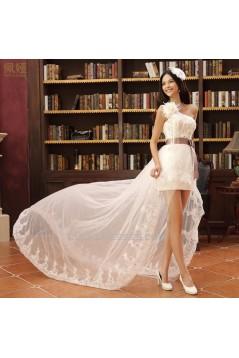 High Low One Shoulder Bridal Wedding Dresses WD010517