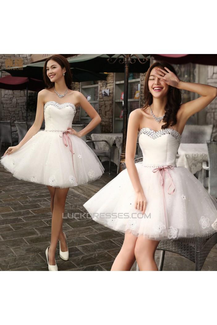 Short/Mini Sweetheart Beaded Bridal Wedding Dresses WD010518