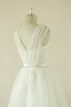 A-line V-neck Short Lace Bridal Wedding Dresses WD010522
