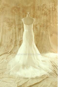 Trumpet/Mermaid Beaded Lace Bridal Wedding Dresses WD010523