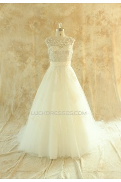 A-line Beaded Lace Bridal Wedding Dresses WD010527