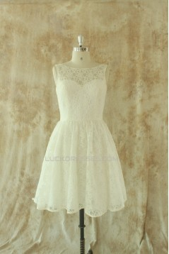 A-line Short Lace Bridal Wedding Dresses WD010528