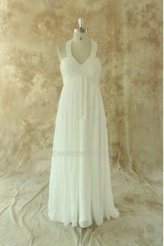 Sheath/Column Halter Maternity Bridal Wedding Dresses WD010531