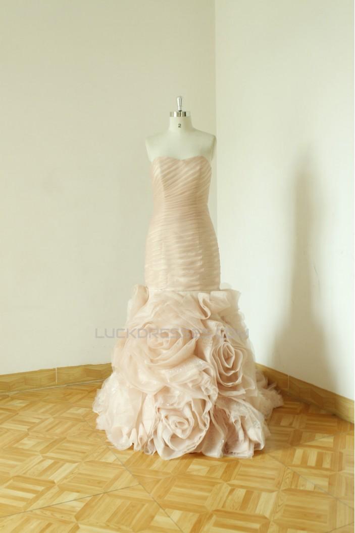 Trumpet/Mermaid Strapless Bridal Wedding Dresses WD010535
