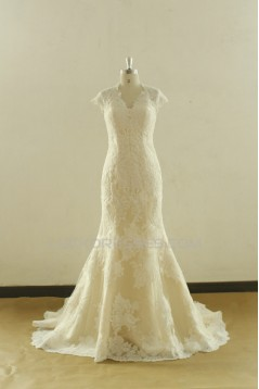 Trumpet/Mermaid Lace Bridal Wedding Dresses WD010536