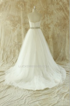 A-line Sweetheart Beaded Bridal Wedding Dresses WD010537