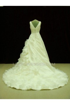 A-line V-neck Lace Bridal Wedding Dresses WD010540