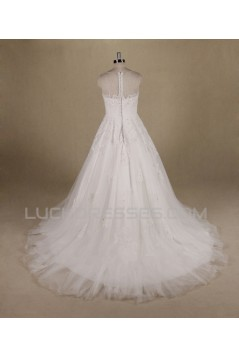 A-line Beaded Lace Bridal Wedding Dresses WD010550