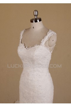 Trumpet/Mermaid Straps Lace Bridal Wedding Dresses WD010551