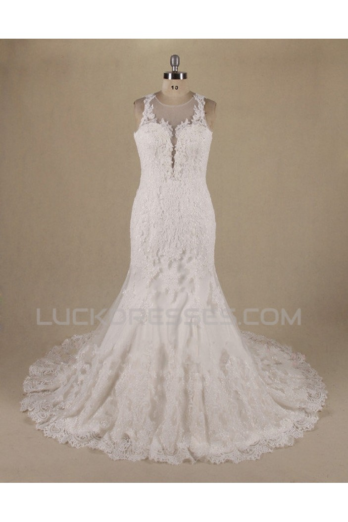 Trumpet/Mermaid Lace Bridal Wedding Dresses WD010552