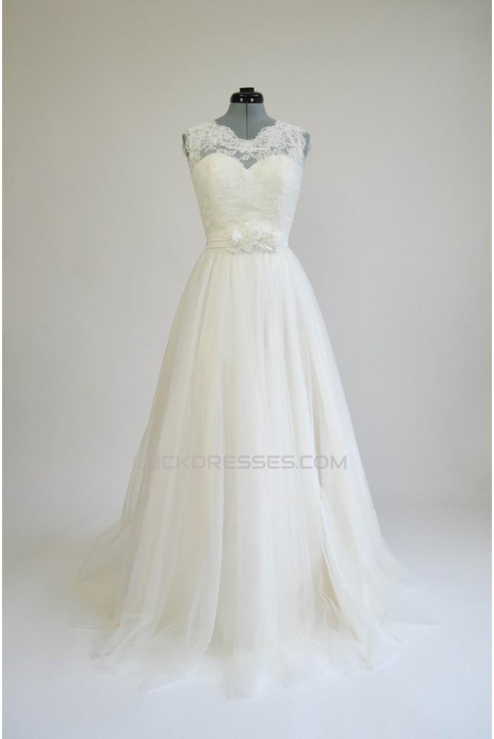 A-line Lace Bridal Wedding Dresses WD010565