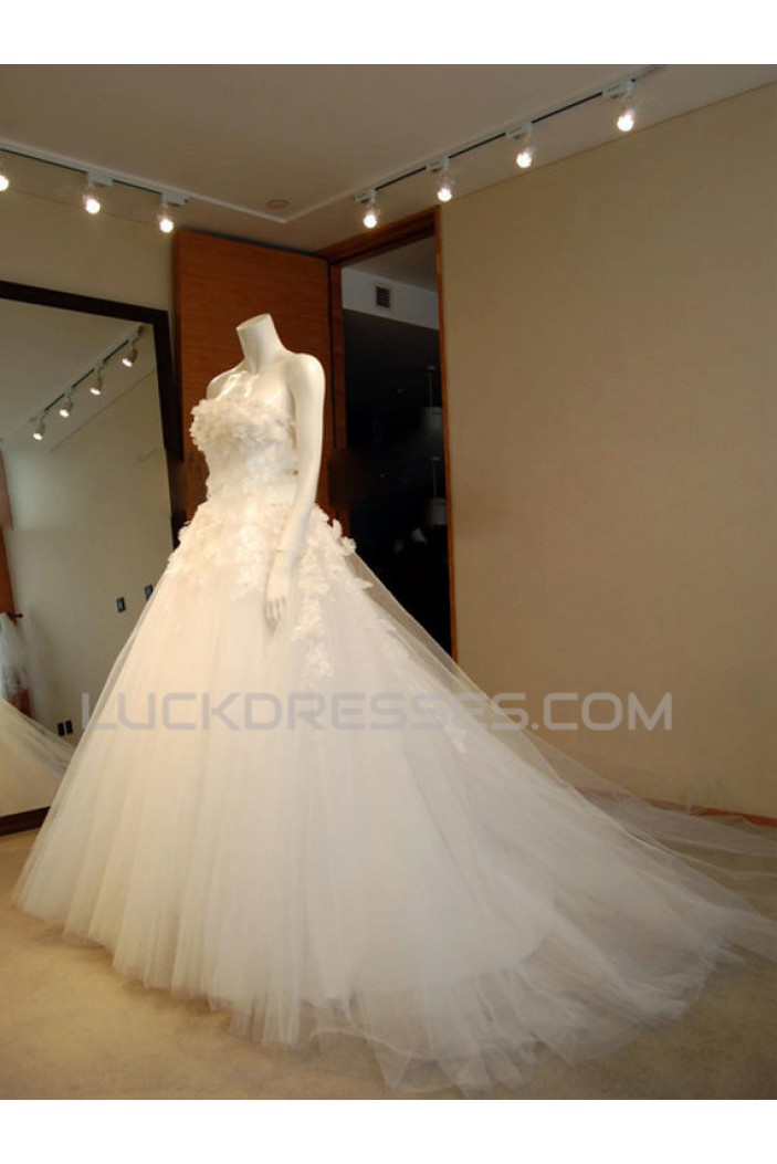 Ball Gown Strapless Bridal Wedding Dresses WD010578