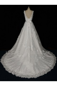 A-line Beaded Lace Bridal Wedding Dresses WD010580