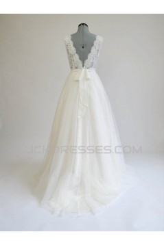 A-line Chiffon and Lace Bridal Wedding Dresses WD010582