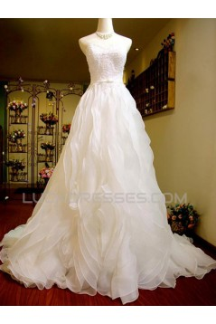 A-line Sweetheart Lace Bridal Wedding Dresses WD010587