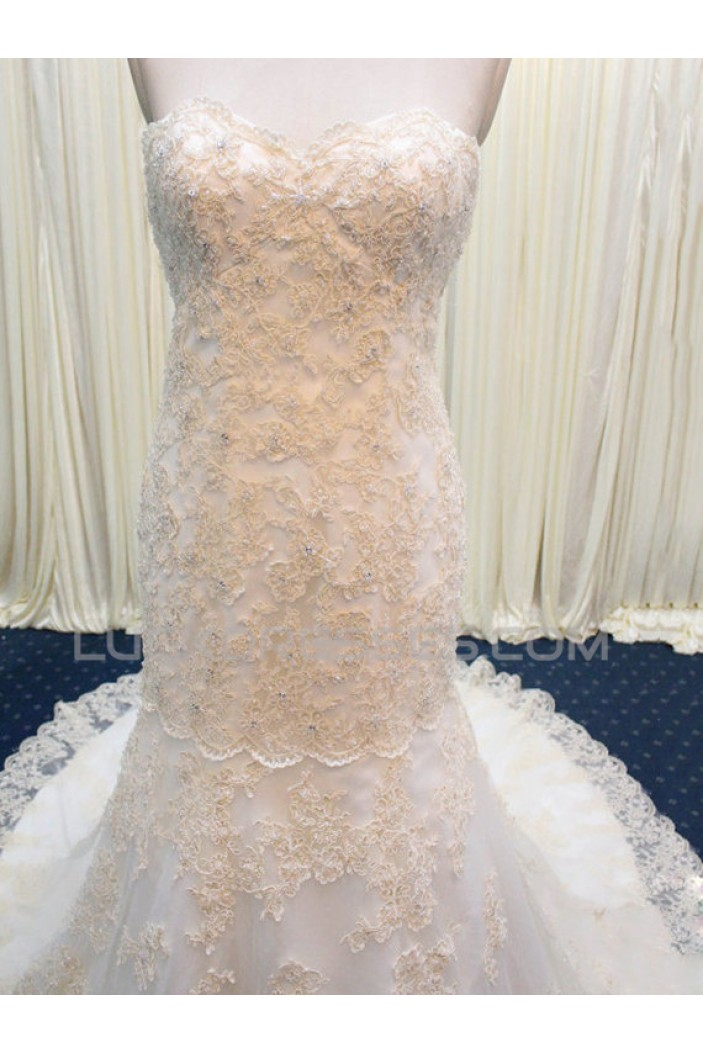 Trumpet/Mermaid Sweetheart Lace Bridal Wedding Dresses WD010588