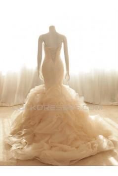 Trumpet/Mermaid Sweetheart Bridal Wedding Dresses WD010589