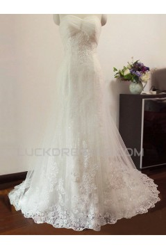 Trumpet/Mermaid Sweetheart Lace Bridal Wedding Dresses WD010591