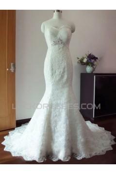 Trumpet/Mermaid Sweetheart Lace Bridal Wedding Dresses WD010595