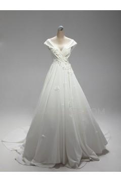A-line Off the Shoulder Bridal Wedding Dresses WD010596