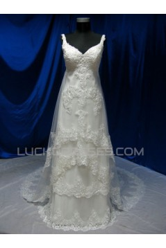 A-line Straps Lace Bridal Wedding Dresses WD010597