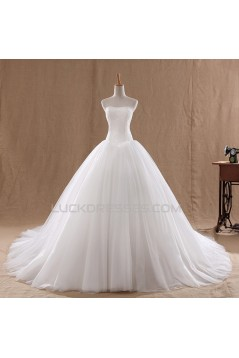 Ball Gown Strapless Bridal Wedding Dresses WD010601