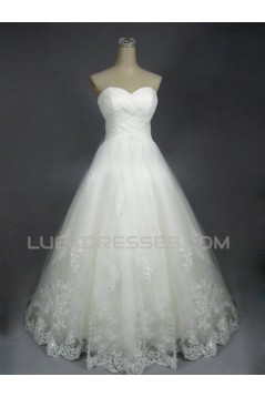 A-line Sweetheart Lace Bridal Wedding Dresses WD010603