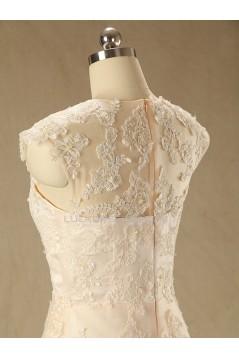 A-line V-neck Lace Bridal Wedding Dresses WD010605