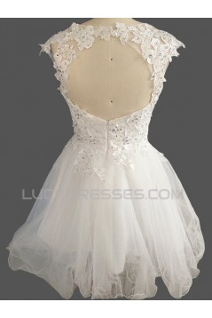 Short/Mini Beaded Lace Bridal Wedding Dresses WD010606