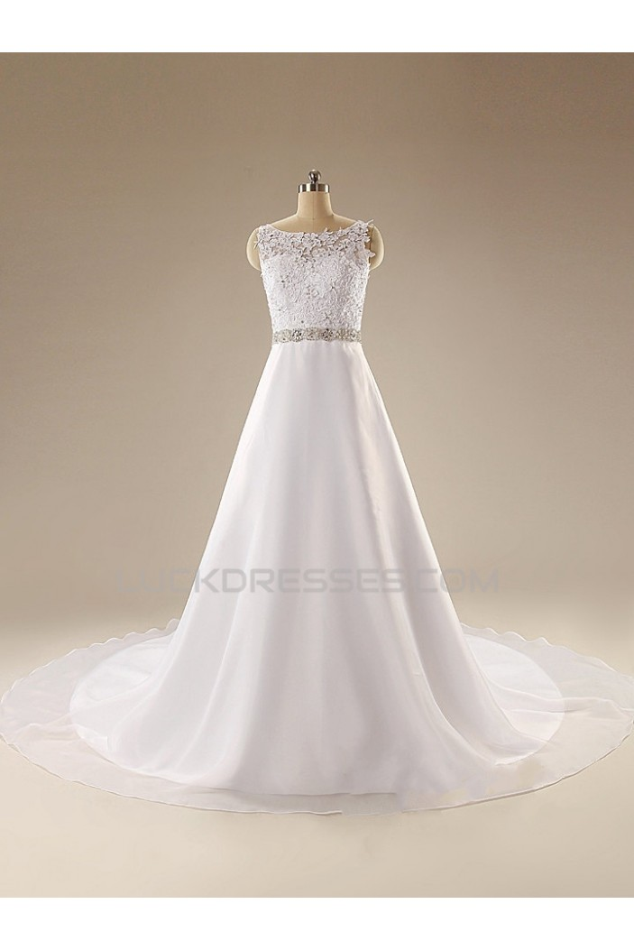 A-line Beaded Lace Bridal Wedding Dresses WD010607