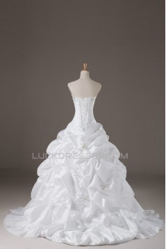 Ball Gown Strapless Beaded Bridal Wedding Dresses WD010616