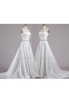 A-line Sweetheart Beaded Bridal Wedding Dresses WD010618
