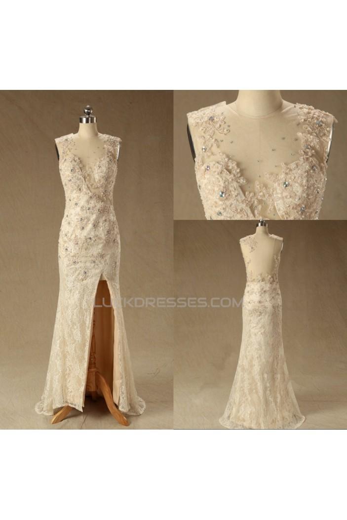 Trumpet/Mermaid Beaded Lace Bridal Wedding Dresses WD010620