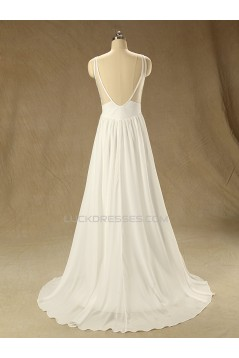 A-line Straps Lace and Chiffon Bridal Wedding Dresses WD010623