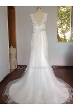 Trumpet/Mermaid Beaded Lace Bridal Wedding Dresses WD010627