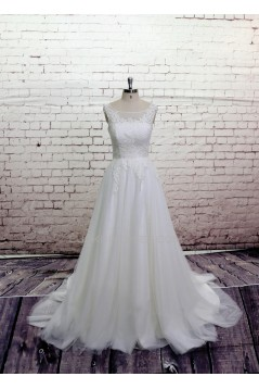A-line Lace Bridal Wedding Dresses WD010629