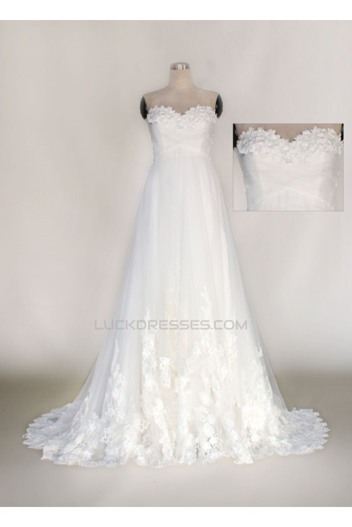 A-line Sweetheart Lace Bridal Wedding Dresses WD010630