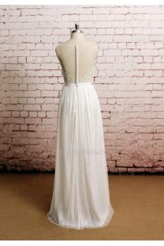 Sheath/Column Lace Bridal Wedding Dresses WD010639