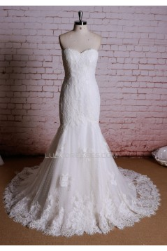 Trumpet/Mermaid Sweetheart Lace Bridal Wedding Dresses WD010641