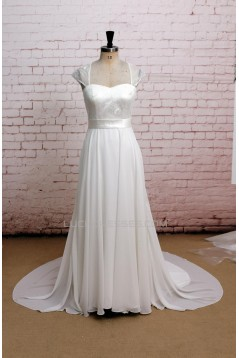 A-line Sweetheart Lace and Chiffon Bridal Wedding Dresses WD010644