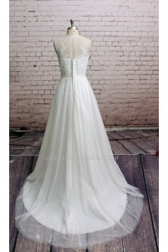 A-line Lace Bridal Wedding Dresses WD010645