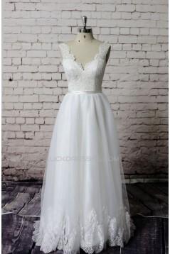 A-line Straps Lace Bridal Wedding Dresses WD010646