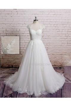 A-line Lace Bridal Wedding Dresses WD010651