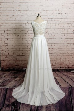 A-line Lace Straps Sleeveless Bridal Wedding Dresses WD010653