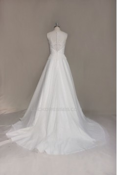 A-line Lace Bridal Wedding Dresses WD010654