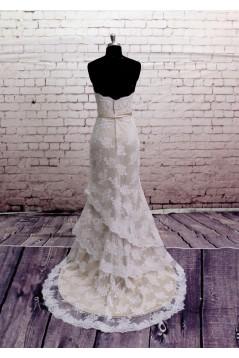 Trumpet/Mermaid Sweetheart Lace Bridal Wedding Dresses WD010655
