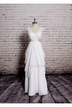 Sheath/Column V-neck Lace Bridal Wedding Dresses WD010657