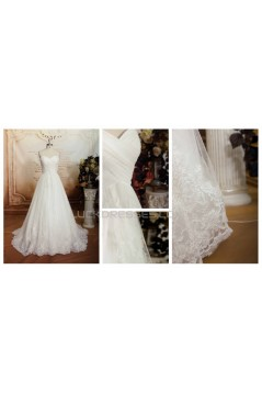 A-line Sweetheart Lace Bridal Wedding Dresses WD010658