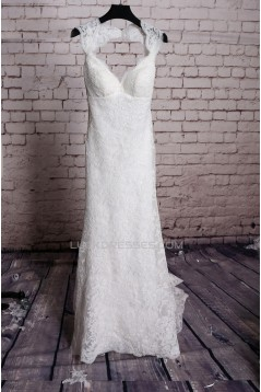 Trumpet/Mermaid V-neck Lace Bridal Wedding Dresses WD010659