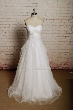 Empire Sweetheart Lace and Tulle Maternity Bridal Wedding Dresses WD010667